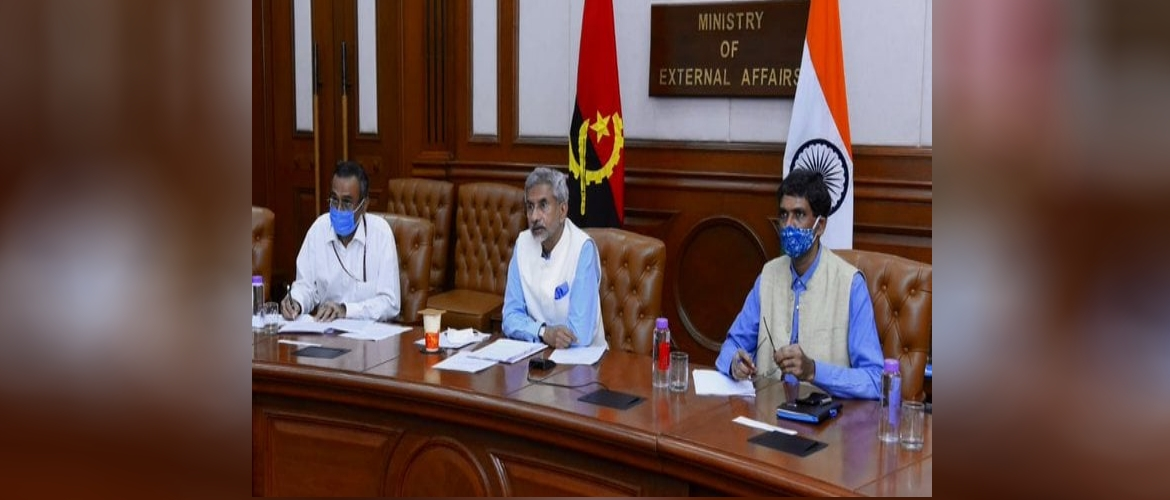 First Joint Commission Meeting between India and Angola on September 07, 2020 co-chaired by EAM Dr S. Jaishankar and Foreign Minister of Angola Tete Antonio.